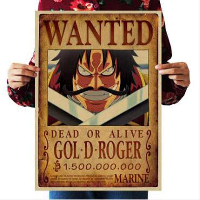 One Piece Dead or Alive Gol D. Roger Wanted Bounty Poster ANM0608 Default Title Official One Piece Merch