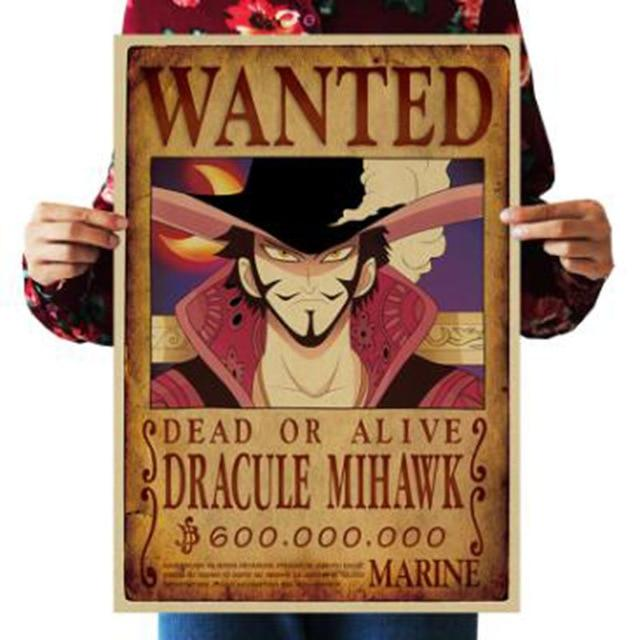 One Piece Dead or Alive Dracule Mihawk Wanted Bounty Poster ANM0608 Default Title Official One Piece Merch