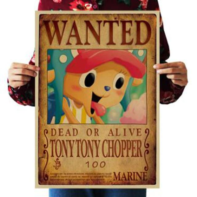 One Piece Dead or Alive Tony Tony Chopper Wanted Bounty Poster ANM0608 Default Title Official One Piece Merch
