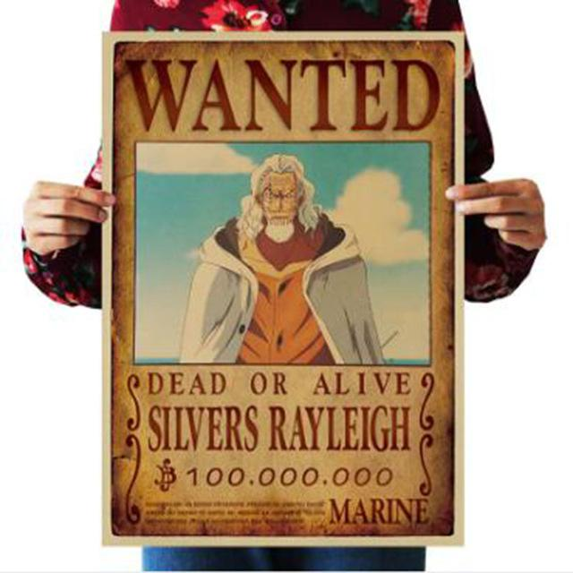 One Piece Dead or Alive Silvers Raleigh Bounty Poster ANM0608 Default Title Official One Piece Merch
