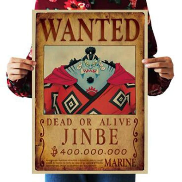 One Piece Dead or Alive Jinbe Wanted Bounty Poster ANM0608 Default Title Official One Piece Merch