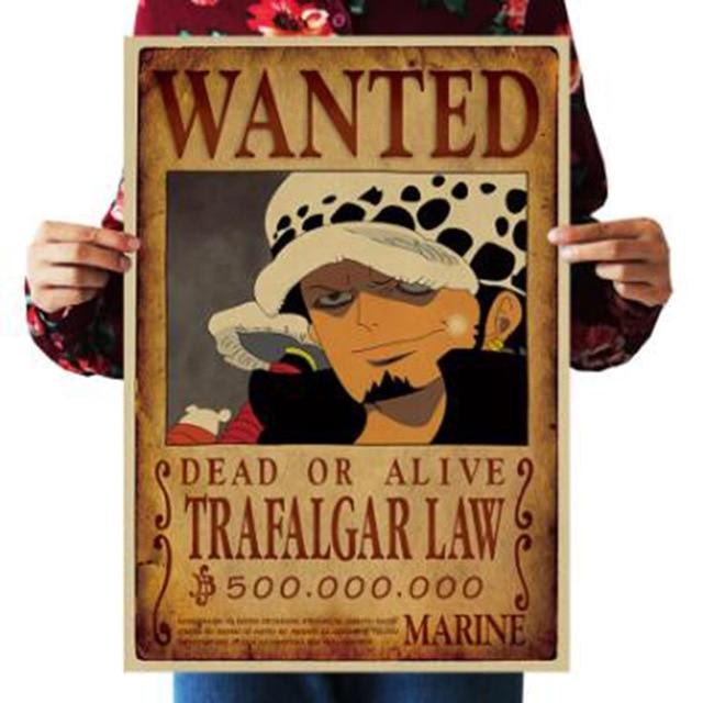 One Piece Dead or Alive Trafalgar D. Water Law Wanted Bounty Poster ANM0608 Default Title Official One Piece Merch