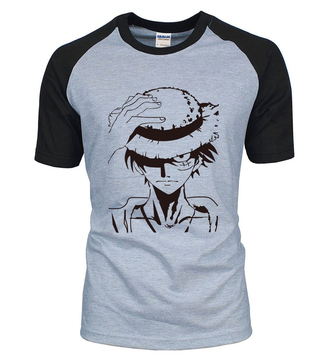 One Piece Luffy Straw Hat T-Shirt ANM0608 Black / S Official One Piece Merch
