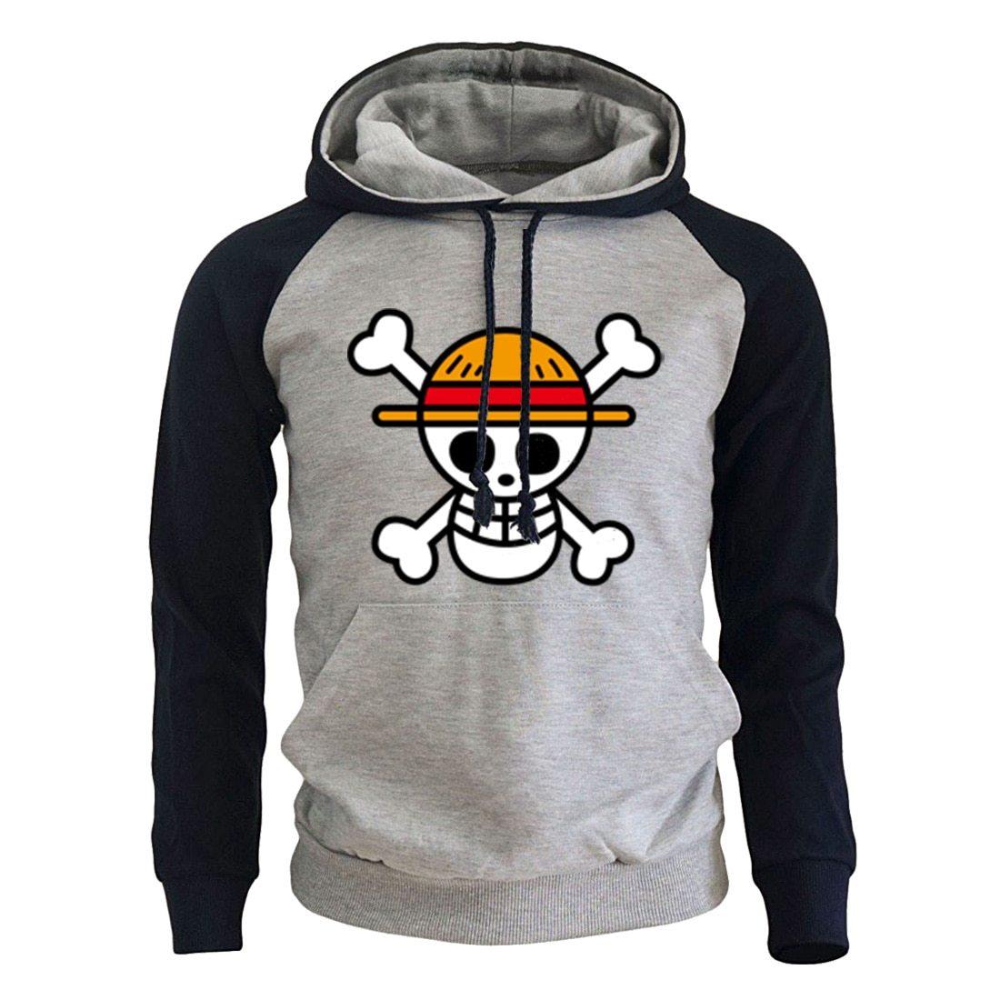 One Piece Logo Hoodie MNK1108 dark blue-gray / S Official One Piece Merch
