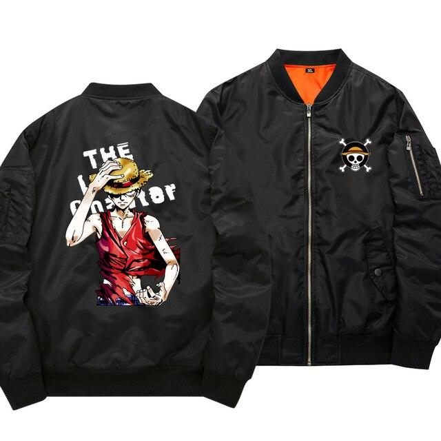 One Piece Luffy Black Bomber Jacket ANM0608 S Official One Piece Merch