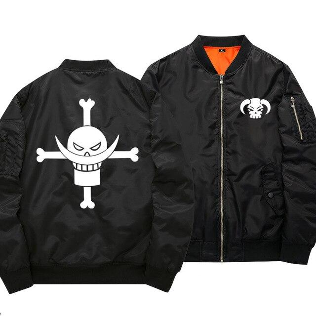 One Piece Whitebeard Pirates Black Bomber Jacket ANM0608 S Official One Piece Merch