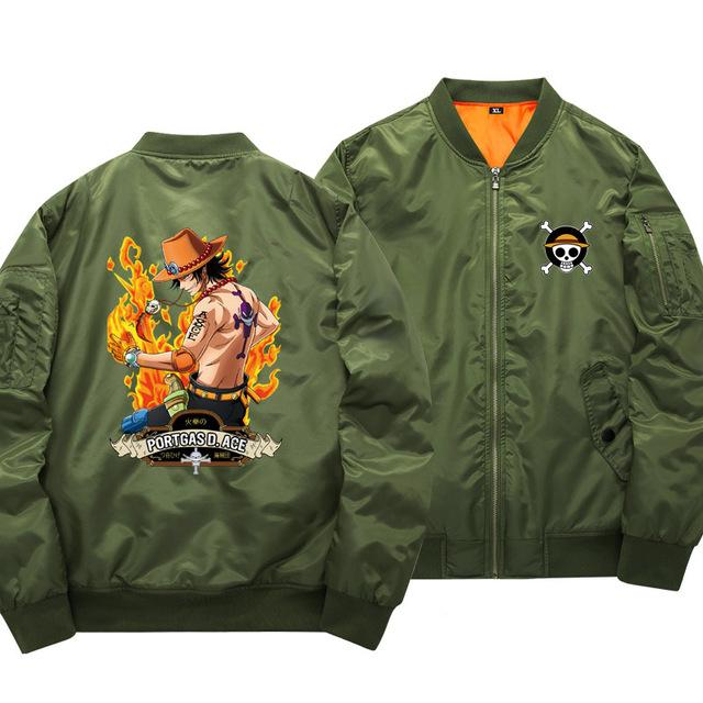 One Piece Portgas D. Ace Bomber Jacket ANM0608 S Official One Piece Merch