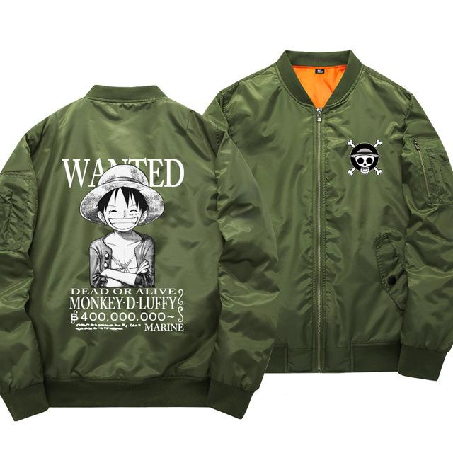 One Piece Monkey D. Luffy Wanted Bomber Jacket ANM0608 S Official One Piece Merch