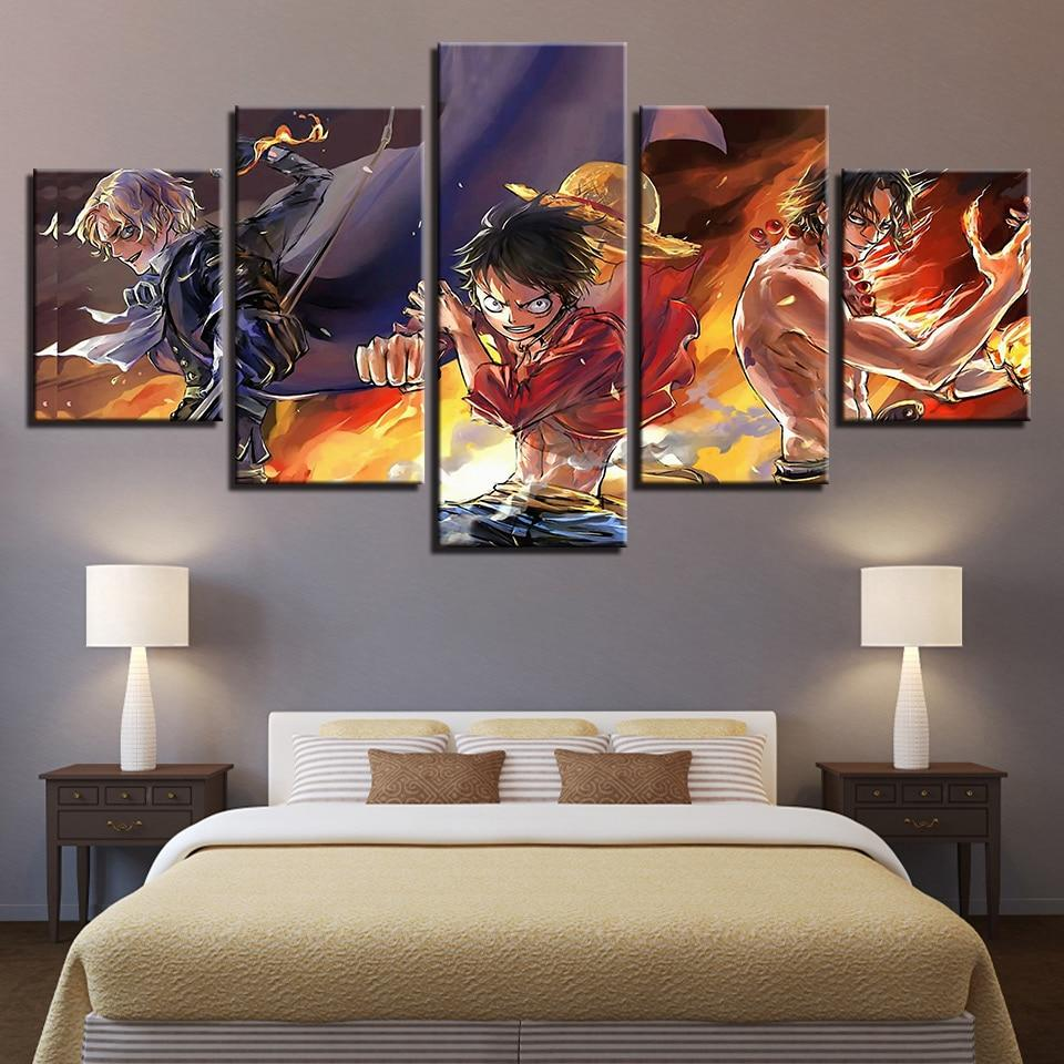 One Piece The Sworn Brothers Canvas ANM0608 Small / No Frame Official One Piece Merch