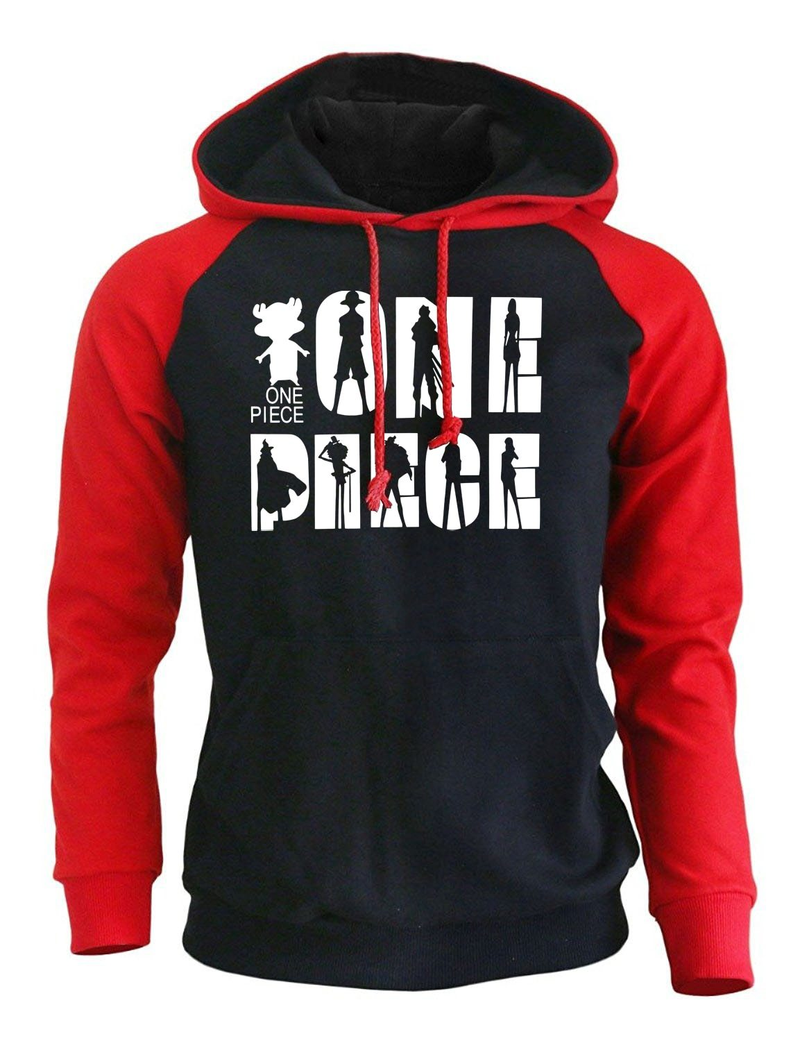 Straw Hats Hoodie MNK1108 red black / S Official One Piece Merch
