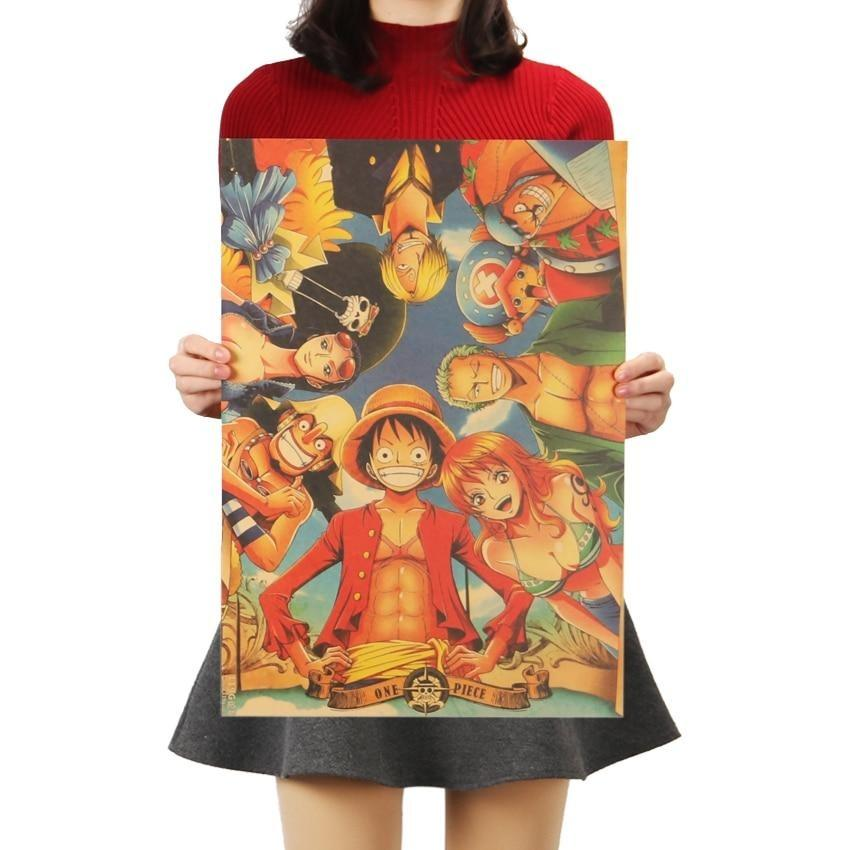 One Piece Main Characters Poster Wall Sticker ANM0608 Default Title Official One Piece Merch