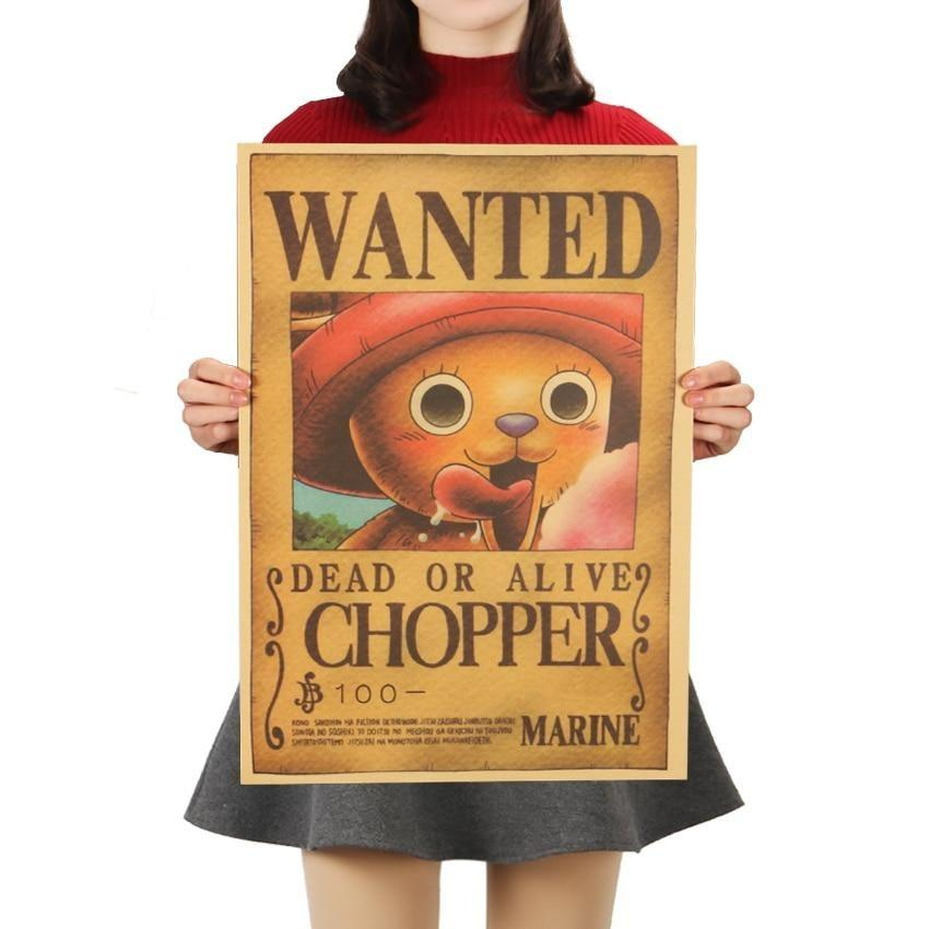One Piece Tony Chopper Classic Wanted Dead Or Alive Poster Wall Sticker ANM0608 Default Title Official One Piece Merch