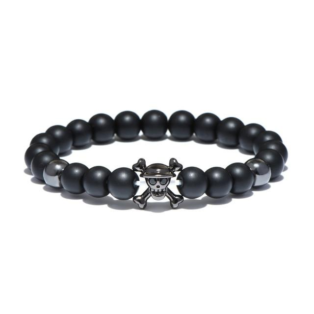 Natural Stone Skull - One Piece Bracelet MNK1108 Black Official One Piece Merch