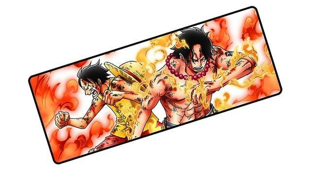 One Piece Monkey D. Luffy & Portgas D. Ace Fighting Mouse Pad ANM0608 Default Title Official One Piece Merch