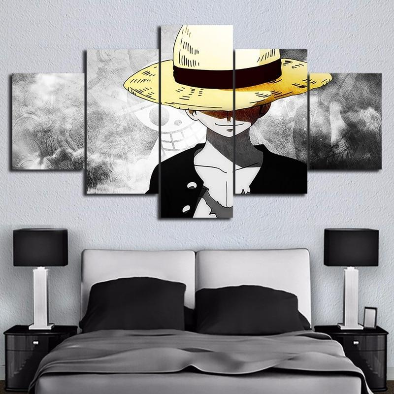 Monkey D. Luffy Canvas - 5 HD Pieces MNK1108 Size 1 / Framed Official One Piece Merch