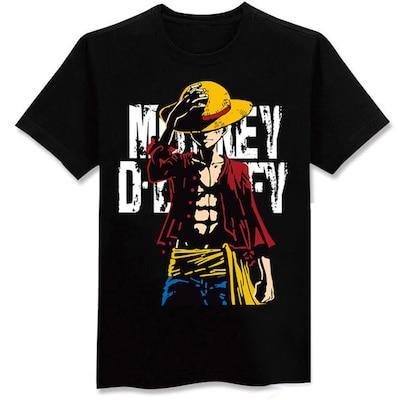 Monkey D. Luffy T-Shirt - One Piece MNK1108 Black / M Official One Piece Merch