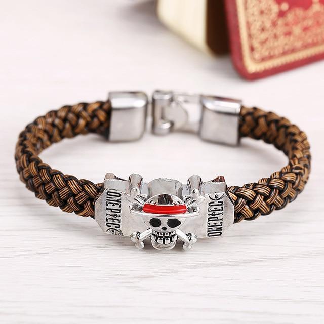 Brown PU Leather - One Piece Bracelet MNK1108 Default Title Official One Piece Merch