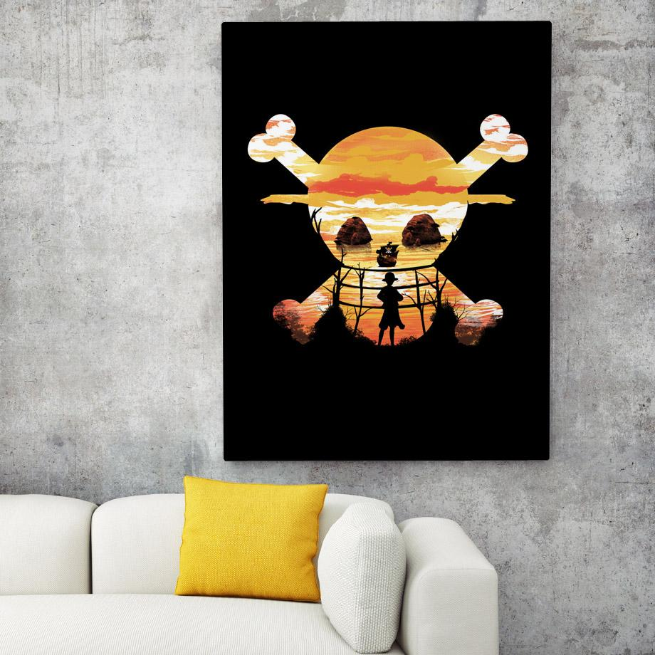 15X20 cm No Framed / Strawhat Official One Piece Merch