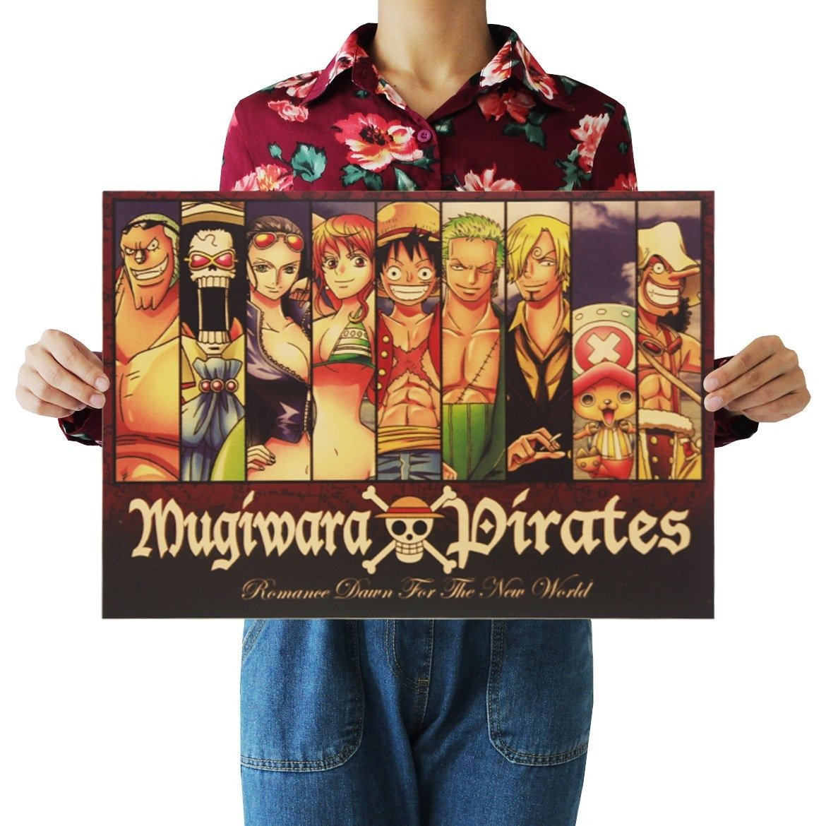 One Piece Mugiwara Strawhat Protagonist Portrait Collection Poster ANM0608 Default Title Official One Piece Merch